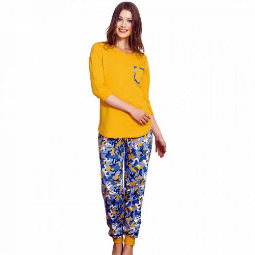 Pijama Dama Flanelata Vienetta, 'Camouflage Girl'