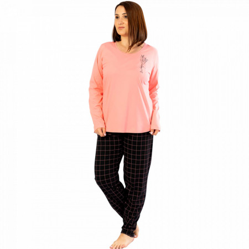 Pijamale Confortabile din Bumbac Marimi Mari Vienetta Model 'Te Amo'