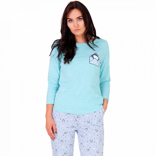Pijamale Dama din Bumbac, M-Max, 'Mail Me' Vernil