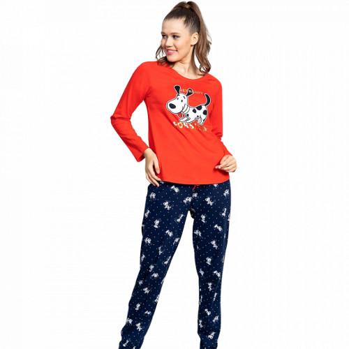 Pijamale Dama din Bumbac Vienetta Model 'Get Ready for Sleep'