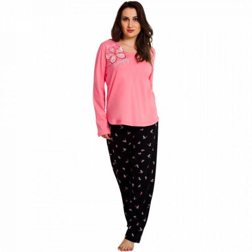 Pijamale Dama Marimi Mari Vienetta, 'You Are My Butterfly' Pink