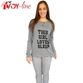 Poze Pijamale Dama Snelly L'Originale, 'This Girl Loves Sleep' Gray