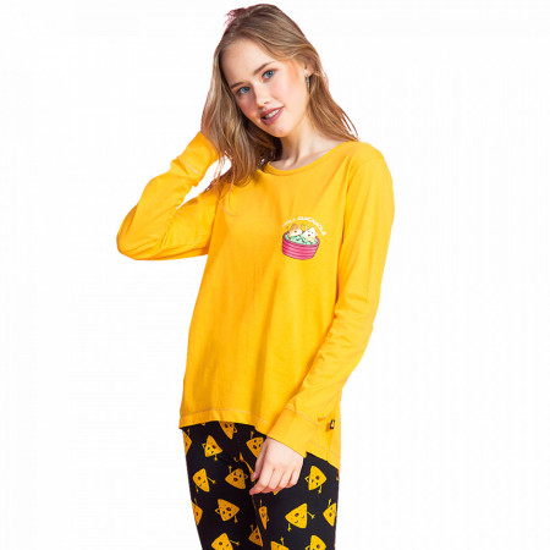 Pijamale Dama Vienetta Dream, 'Holy Guacamole' Yellow