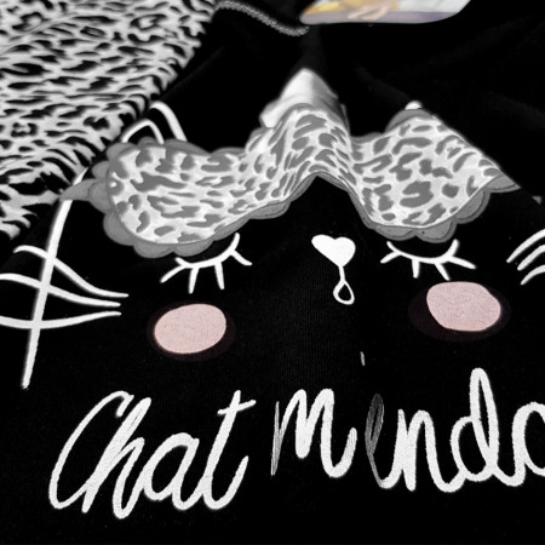 Pijamale Vienetta Dama, 'Chat M'endort'