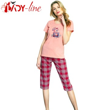 Poze Pijamale Vienetta Secret, Bumbac 100%, 'Good Things Will Come' Pink