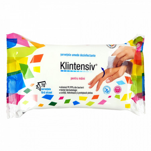 Servetele Dezinfectante Maini KLINTENSIV® Elimina 99,99% din bacteii