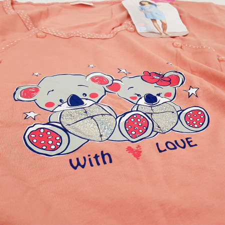 Camasa Gravide si Alaptat, 'With Love' Coral