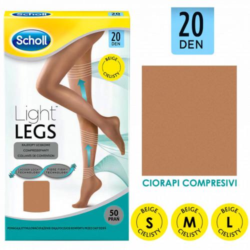 Ciorapi Compresivi Bej 20 DEN Light Legs Scholl