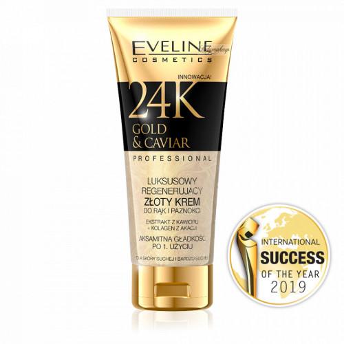 Crema pentru Maini si Unghii 24K Gold & Caviar Eveline Cosmetics 100ml.