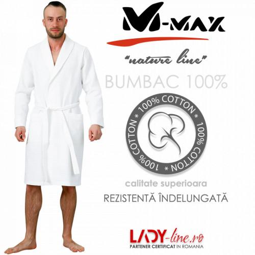 Halat Barbati M-Max Bumbac 100%, 'White Accord'