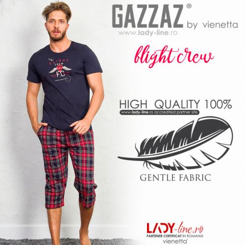 Pijama Barbati Gazzaz by Vienetta, 'Flight Crew' Gray