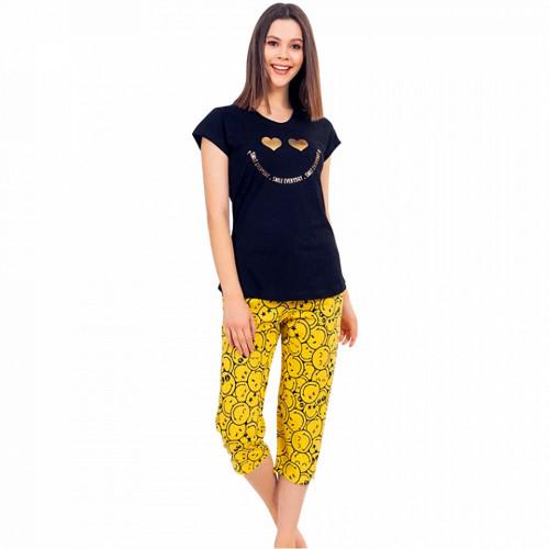 Pijama Dama din Bumbac 100% Vienetta Model 'Smile Everyday'