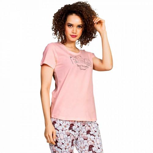 Pijama Dama Vienetta Bumbac 100%, 'Best Friend Forever'
