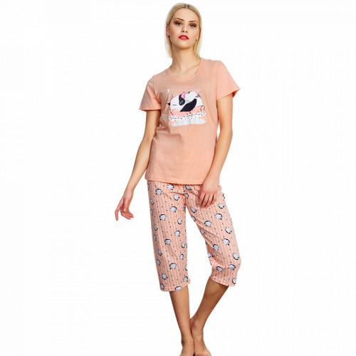 Pijama Dama Vienetta, Bumbac 100%, 'Sweet Dream Baby'