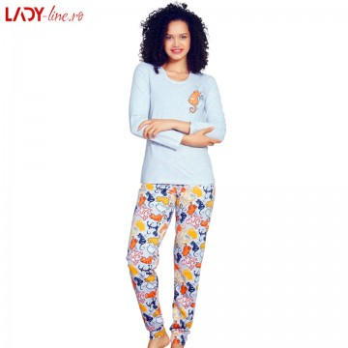 Pijama Dama Vienetta Secret, 'Pure Love' Gray