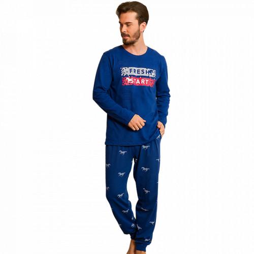 Pijamale Barbati din Bumbac 100% Gazzaz by Vienetta 'Fresh Start'