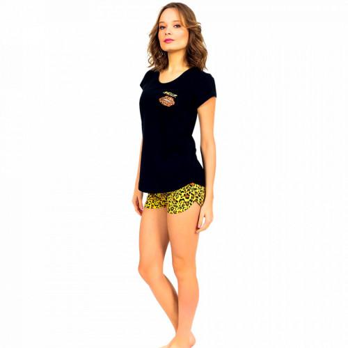 Pijamale Dama Manesca Scurta Pantalon Scurt Vienetta Dream Model 'Amour'