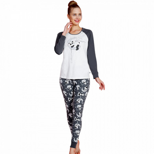 Pijamale Dama Vienetta, Bumbac 100%, 'Love is Everywhere'