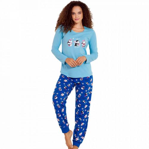 Pijamale Dama Vienetta, 'Cute Penguine' Blue