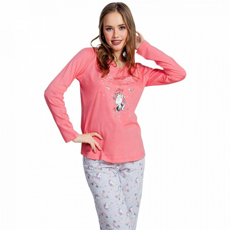 Pijamale Dama Vienetta Dream, 'Unicorns & Rainbow'