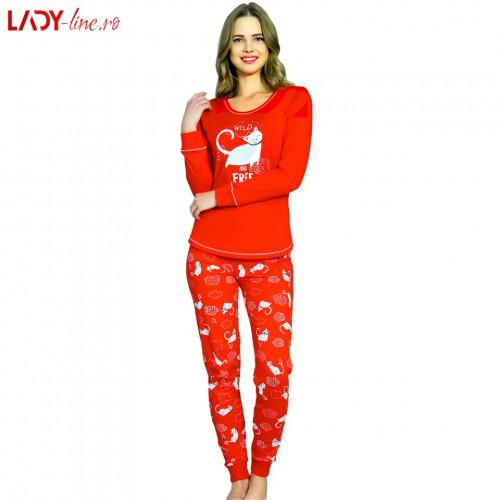 Pijamale Vienetta Secret, Bumbac 100%, 'Wild and Free'