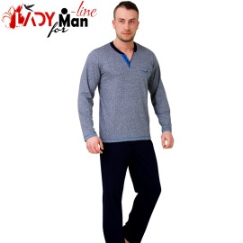 Pijamle Barbati Bumbac 100%, 'Skyline', M-M Nightwear