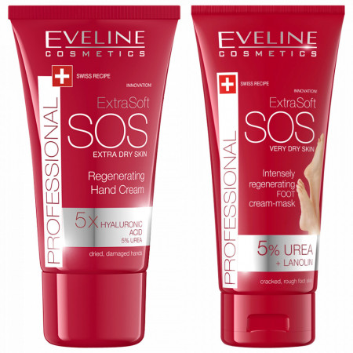 Set Crema SOS Maini si Picioare Regenerate Eveline Cosmetics