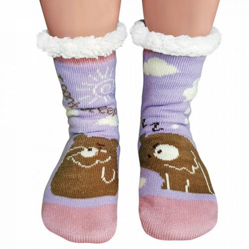 Ciorapi Imblaniti si Caldurosi Lady-Line Model 'I Dont Sleep' Lilac