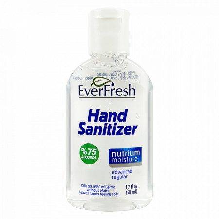 Dezinfectant Maini Gel Antibacterian 75% Alcool Hand Sanitizer EverFresh 50ml