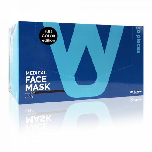 Masca Faciala Medicala cu 4 Straturi Dr. Mayer Black Full Color Edition Cutie 50 Bucati