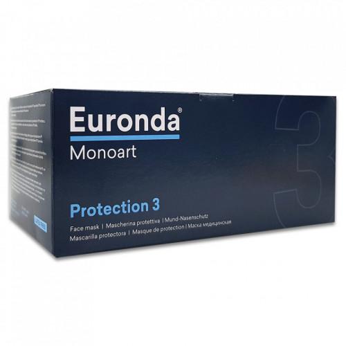 Masca Gura si Nas cu 3 Straturi de Protectie, Euronda Monoart, 50 Buc. Purple