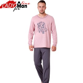 Poze Pijama Barbati Maneca/Pantalon Lung, 'Lion King', M-M Nightwear