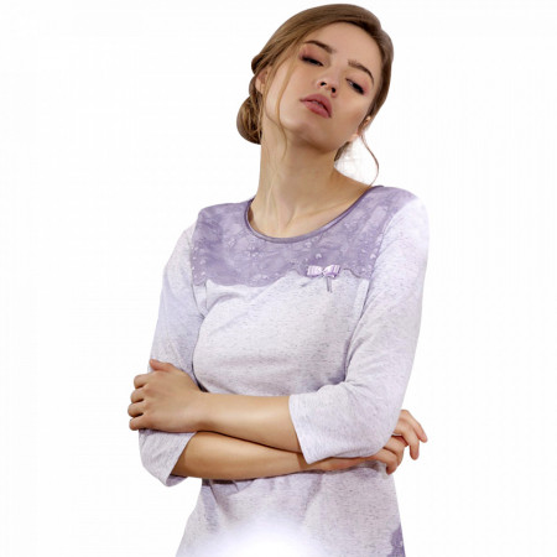 Pijama Dama Maneca Trei Sferturi Cana Nouvelle, Model Elegant Lace