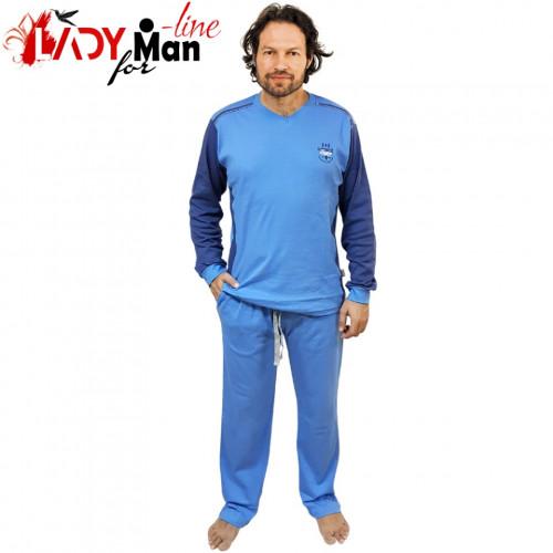 Pijamale Barbati, Bumbac Natural, Contro Senso, 'Boxing-Anual Competition' Blue