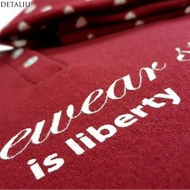 Poze Pijamale Calduroase Dama, Brand 'Senso', 'Homewear Is Liberty' Rubino