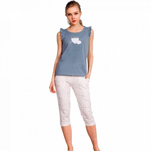 Pijamale Dama Vienetta cu Pantalon 3/4 Model 'Sleep Baby'