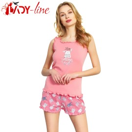 Poze Pijamale Vienetta Secret, Bumbac 100%, 'Love Always Wins' Pink