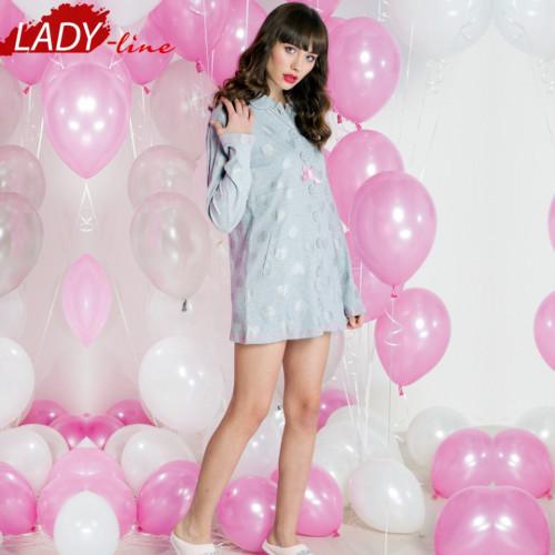 Camasa Dama Maneca Lunga, Model First Love, Brand Italian Fashion Design, Material Bumbac 88%, Culoare Gri, Camasi De Noapte Satisfactie 100%