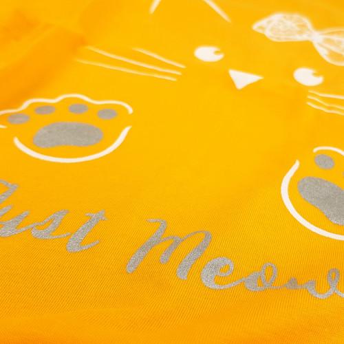 Camasa pentru Gravide si Alaptat Vienetta 'Just Meow' Yellow