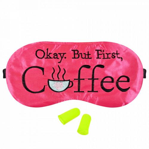 Masca Dormit 'Okay, But First, Coffee' si Antifoane Interne Urechi
