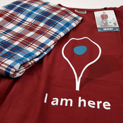 Pijama Barbati Gazzaz by Vienetta, 'I am Here'