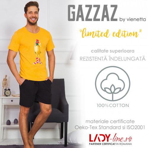 Pijama Barbati Gazzaz by Vienetta, 'Limited Edition' Yellow