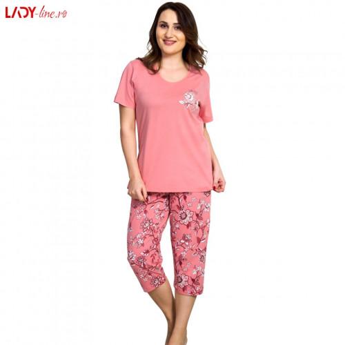 Pijama Dama Vienetta, Bumbac 100%, 'Wonderful Time'