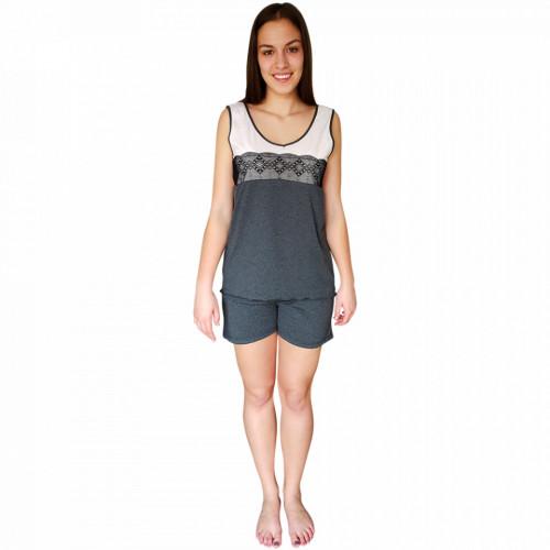 Pijamale Dama Bumbac 100%, Brand Charachter, 'Love Inspiration' Gray