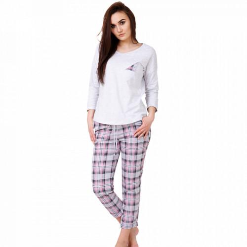 Pijamale Dama Bumbac, M-Max, Model Inspiration Gray