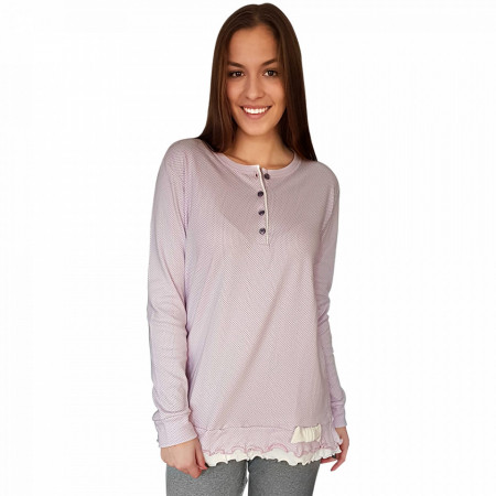 Pijamale Dama Snelly L'Originale, Bumbac 100%, 'Spring Of Lilac'