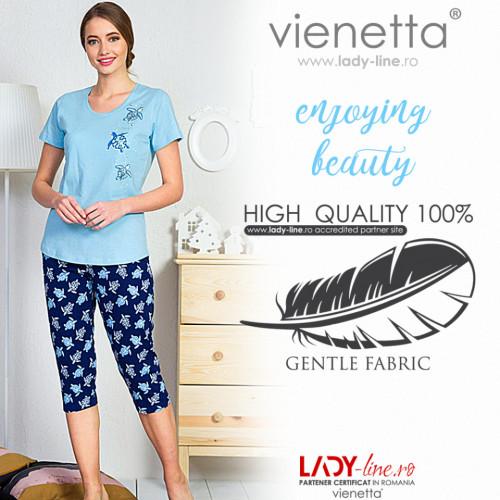 Pijamale Dama Vienetta 'Enjoying Beauty' Bumbac 100%
