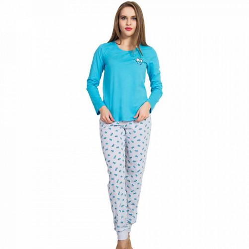 Pijamale Dama Vienetta, 'Smile, Fun & Happiness' Blue