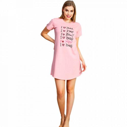 Camasa Dama Vienetta, 'I Love You' Pink