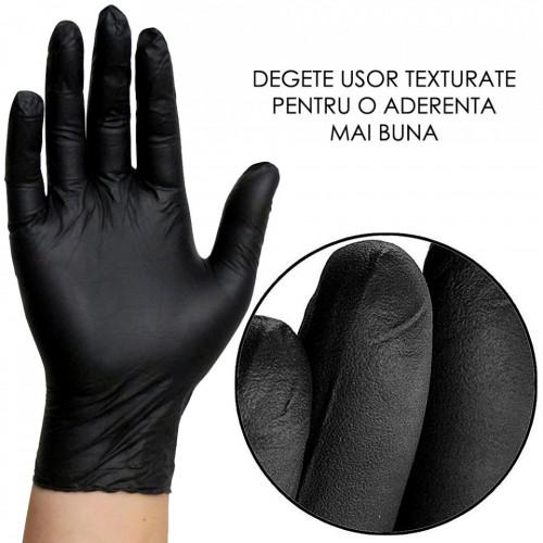 Manusi Nepudrate Examinare si Protectie Nitrylex® Black 100 Buc